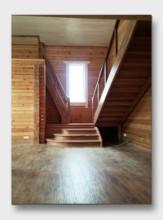 Деревянная лестница Лосиный Парк. Установлена в Щелково