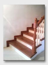 Деревянная лестница Николина Поляна. Установлена в Нахабино
