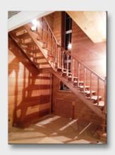 Деревянная лестница Давыдовское. Установлена в городе Истра
