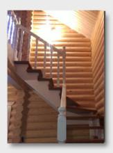 Деревянная лестница Новотарасково. Установлена в Ступино