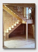 Деревянная лестница Товарково. Установлена в Рузе