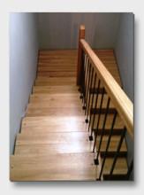деревянная лестница Перелески. Установлена в Рузе