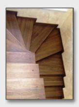 Деревянная лестница Дарьино. Установлена в Одинцово