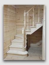 деревянная лестница Ильинское. Установлена в районе Красногорска