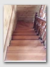 деревянная лестница Боровский 3. Установлена в районе Балабаново