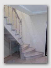 деревянная лестница Боровский-2. Установлена в Обнинске