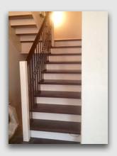 деревянная лестница Бристоль. Установлена в районе города Московский