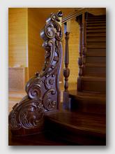 деревянная лестница Никульское. Установлена в районе города Мытищи