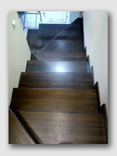 Металлическая лестница Сходня. Установлена в районе города Химки