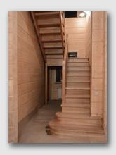деревянная лестница Ушаково. Установлена в районе Истры